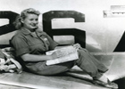 WASP Doris Marland Sitting on Plane Avenger